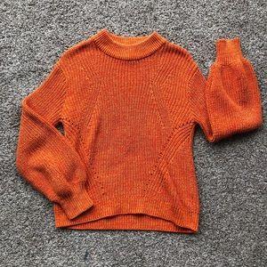 h&m orange knitted sweater!!